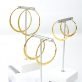 Golden Forged Hoops
