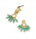Emerald Cluster Dangles