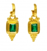 Etruscan  Emerald Style Dangle