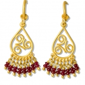 Triskele Ruby Dangle