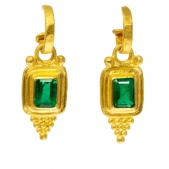 Etruscan  Emerald Style Dangle