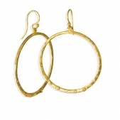 Tapered  Hoops & Diamonds