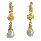 Snowflake Baroque Pearl Dangle