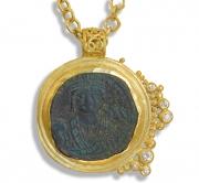 22k Byzantine Coin Pendant #1