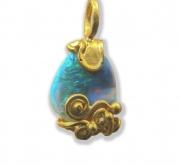 22k  Cradled  Filigree Opal #3