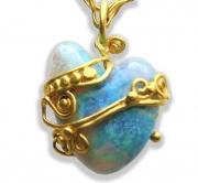 Jelly Hear Shape Opal Pendant