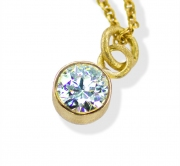 Simple Diamond Bezel Pendant