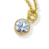 Simple Diamond Bezel Pendant