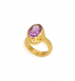 Amethyst Filigree Bezel Ring