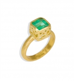 Emerald Filigree Bezel Ring