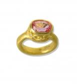 Padparadscha Sapphire Filigree Bezel Ring