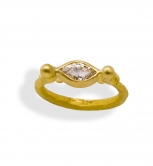Marquise Diamond U Shape Ring