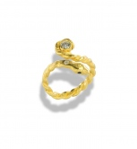 Adjustable Snake Wrap Ring A