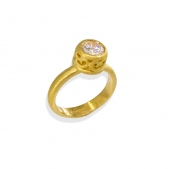 Filigree Bezel  Solitaire Ring F3