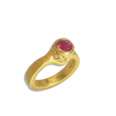 Ruby Filigree Bezel Ring