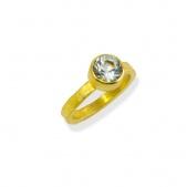 Aquamarine Bezel Ring